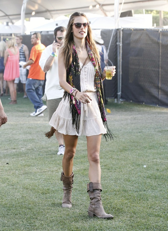 Alessandra Ambrosio Loving Coachella Music Festival!